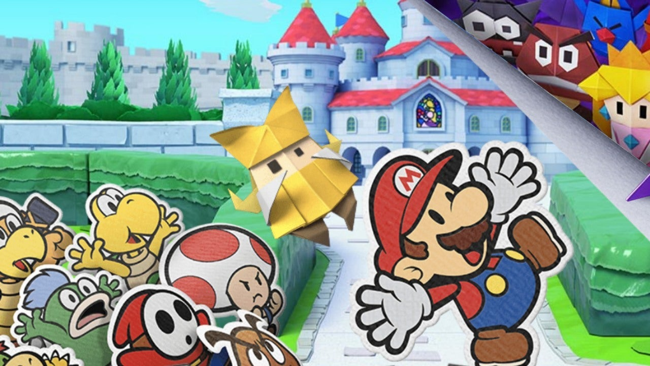 paper mario origami king new launch month sales record in us