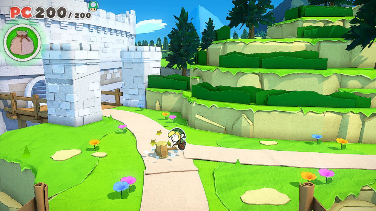 link in paper mario origami king mod