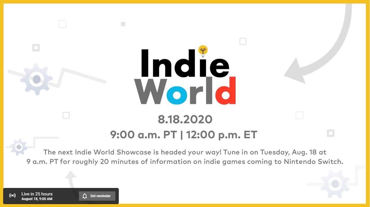 nintendo indie world showcase event direct