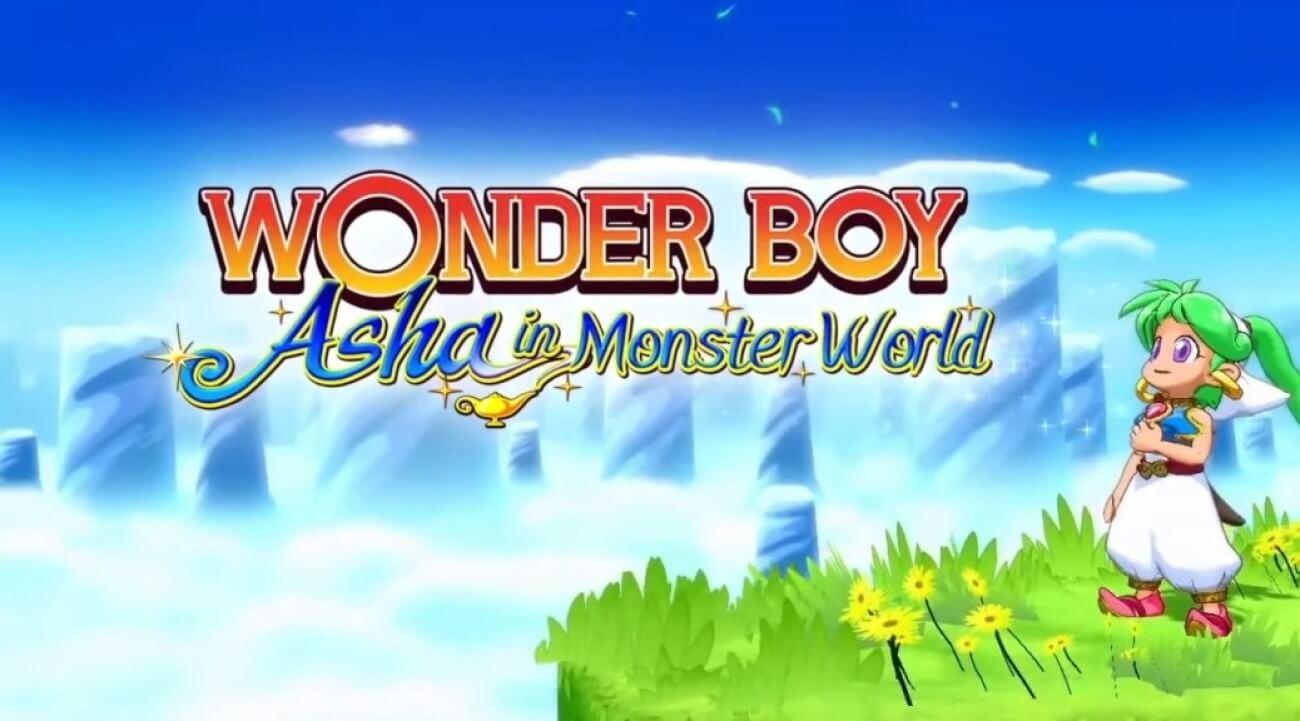 wonder boy asha in monster world remake trailer announced