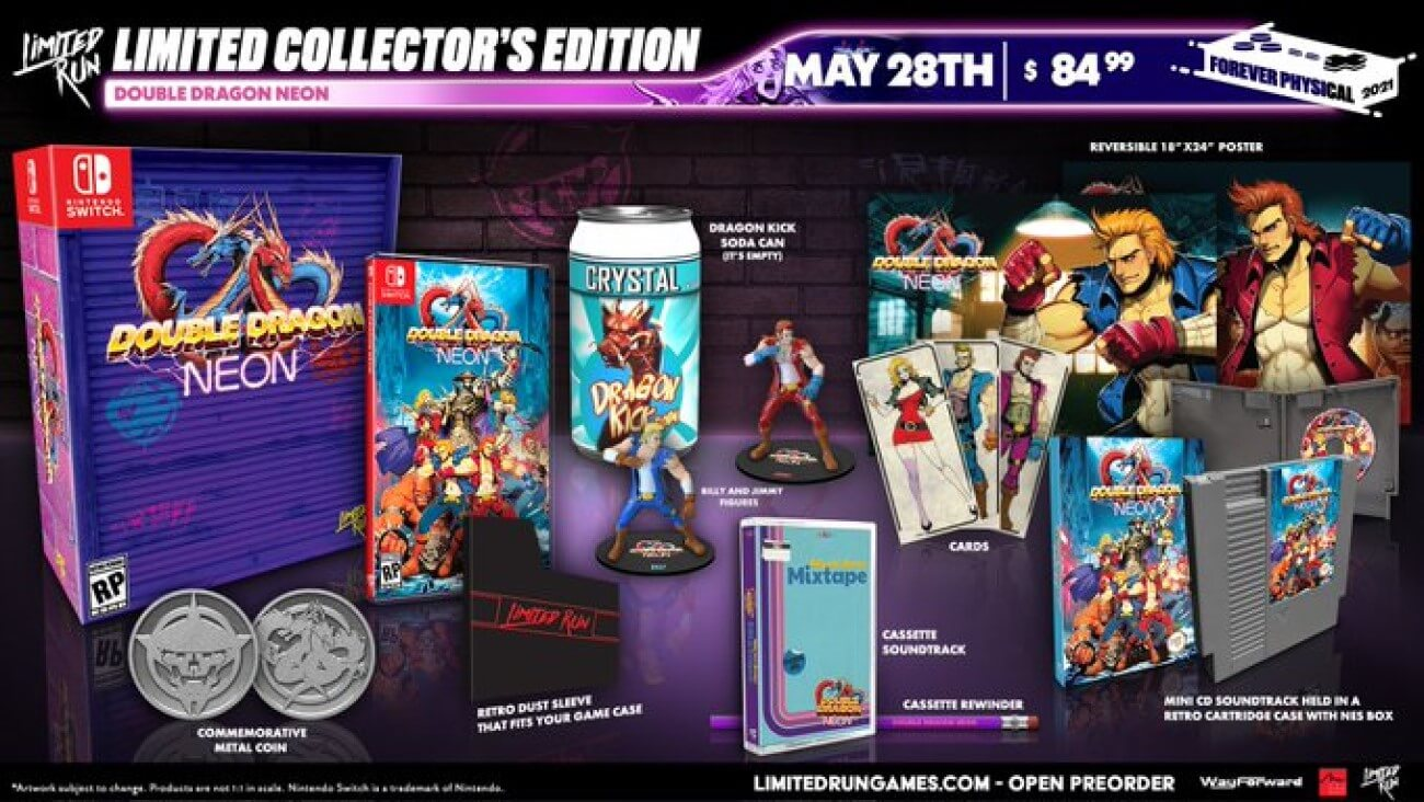 double dragon neon and double dragon IV physical release limited run games