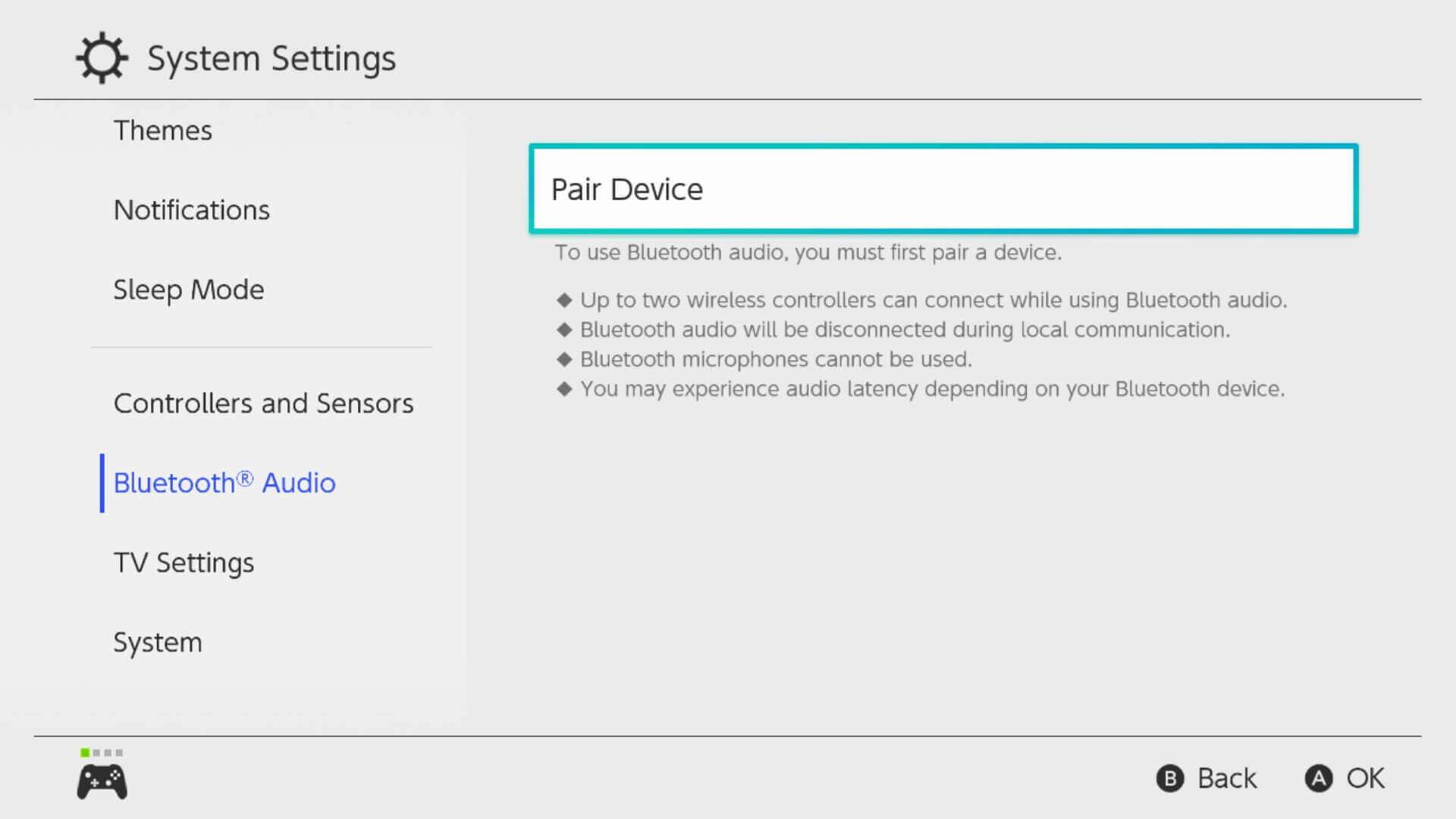 Nintendo Switch Update 13.0.0 Bluetooth