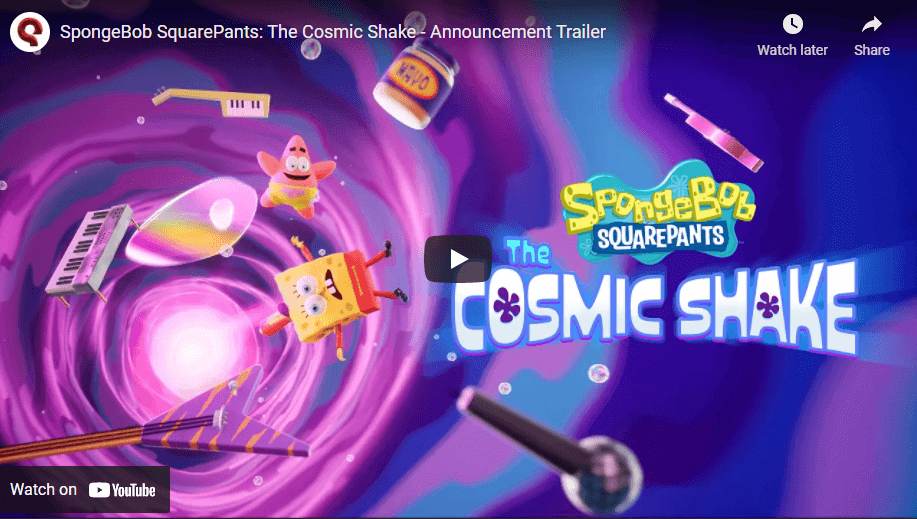 spongebob squarepants the cosmic shake nintendo switch announcement trailer
